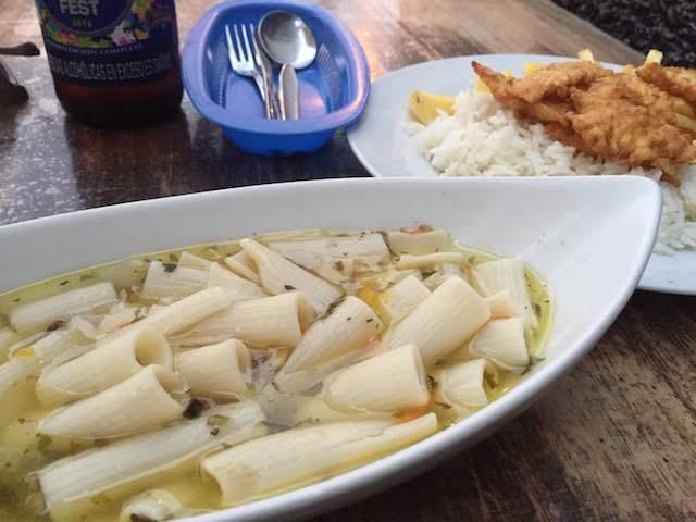 ペルー・ワンチャコのMENU LANDでの夕食