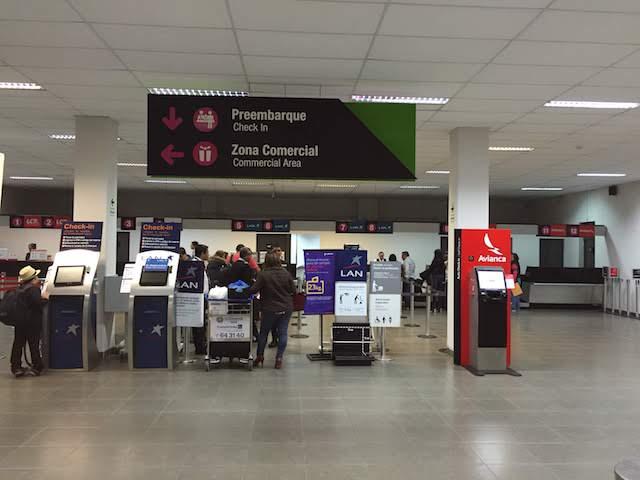 トルヒーヨ空港 LAN航空のカウンター