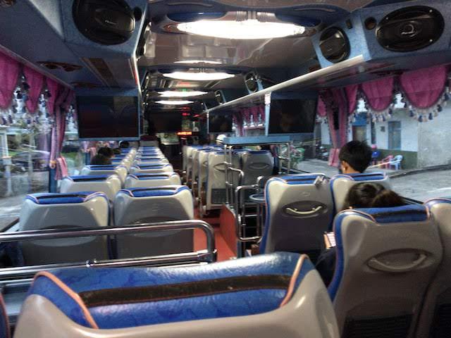 東河から台東へ向かうバスの車内