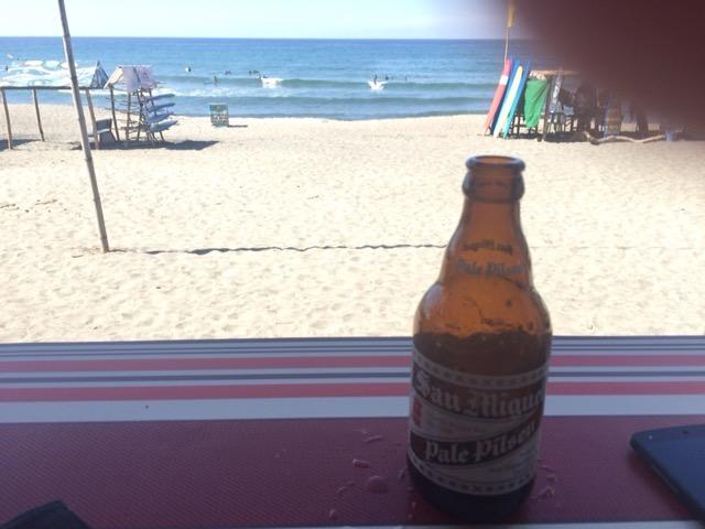 定番のビール、サンミゲル