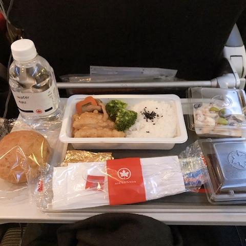 エア・カナダAC002便での機内食