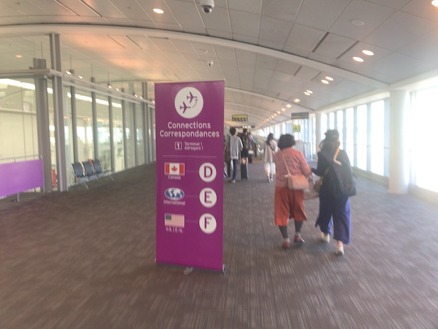 トロント空港 エア・カナダの乗り換え口