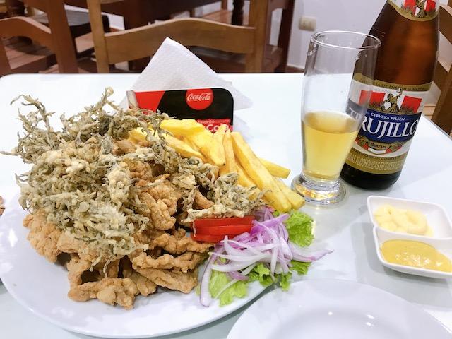 レストランチカマの夕食