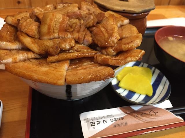 帯広にあるとん田の豚丼