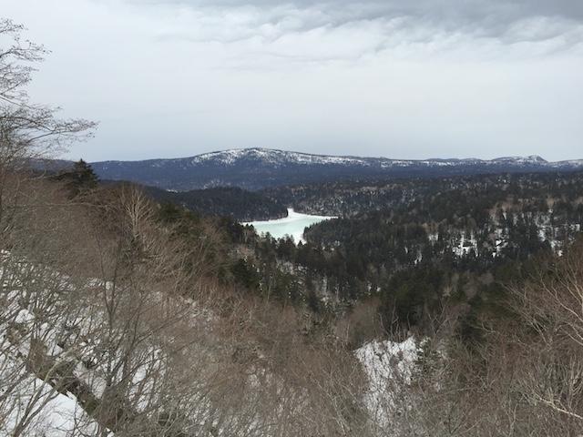 双湖台から見る阿寒湖