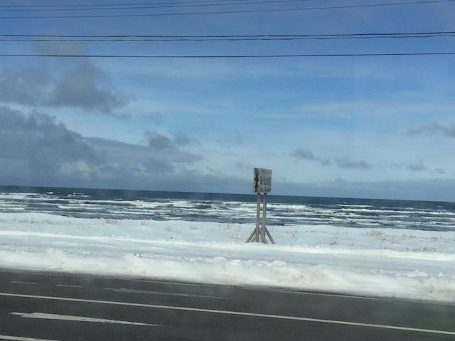 稚内市内の波