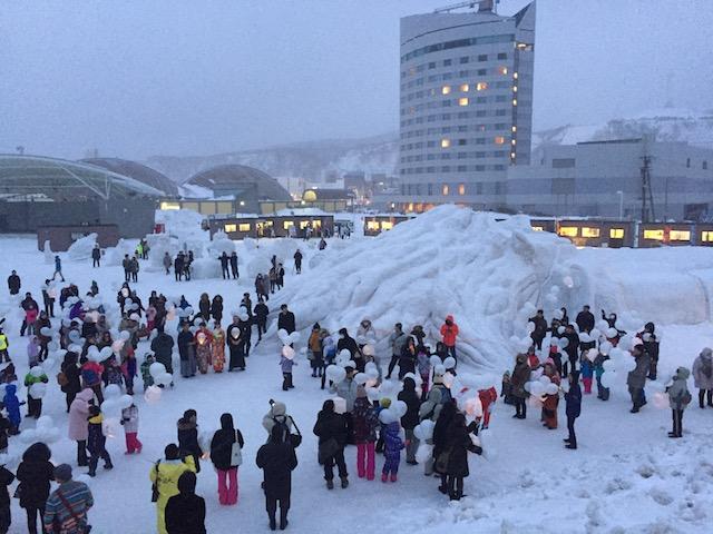 2017年のわっかない氷雪の広場